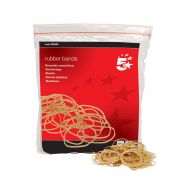 5 Star RubberBands No16 63x1.5mm454g Bag (Pack 1)