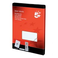 5 Star Office MultiP Lbls 63.5x38.1 2100 (Pack 1)