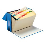 5 Star Office A-Z Expanding Box Blue (Pack 1)