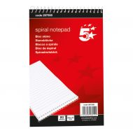 5 Star Spiral Shorthand Pad 160pg  (Pack 10)