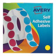 Avery Labels on Roll 19mm Yellow 24-508  (Pack 1)