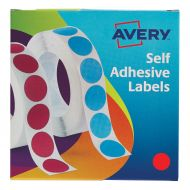 Avery Labels on Roll 19mm Red 24-506  (Pack 1)