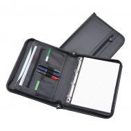 5 Star Office Zip Folder R/Binder A4 Blk (Pack 1)
