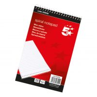 5 Star Spiral Shorthand Pad 300p (Pack 10)
