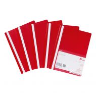 5 Star Office Project File A4 Red (Pack 5)