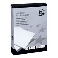 5 Star Premium CopierPpr Wht A4 80gPk500 (Pack 5)