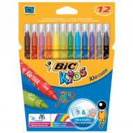 Bic Kids Couleur FeltTip Pens Wallet 12  (Pack 1)