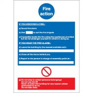 Fire Action Write On 210X297mm NS017SAV (Pack 1)