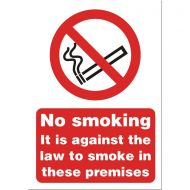 No Smoking Premises Sign A5 SB003SAV (Pack 1)