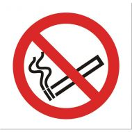 No Smoking Vehicle Sign Clear SB012SAV (Pack 1)