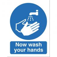 Now Wash Your Hands 150x200mm NS022SAV (Pack 1)