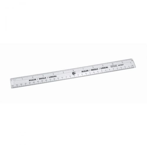 5 Star Office Ruler Plastic 300mm Clear (Pack 10)