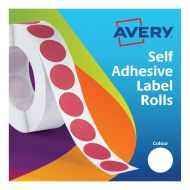 Avery Labels on Roll Dia19mm Whte 24-404 (Pack 1)