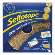 Sellotape Hook Spots Bx100/125 1445185 (Pack 1)
