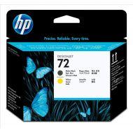 HP 72 Inkjet P/Head Matt Blk&Yell C9384A (Pack 1)