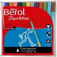 Berol Colour Fine Pen Asstd Pk12 2057599 (Pack 1)