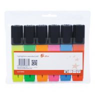 5 Star Office Highlighters Assorted Pk6 (Pack 1)