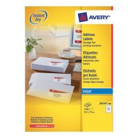Avery InkJet Label 63.5x72 Wht J8164-100 (Pack 1)