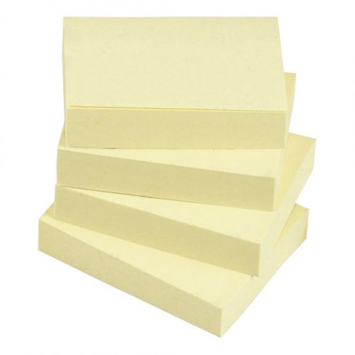 5 Star Re-Move Notes 38x51mm Yellow (Pack 12)