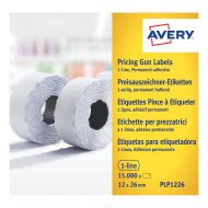 Avery 1 Line Labels Permanent Wht Pk1500 (Pack 10)