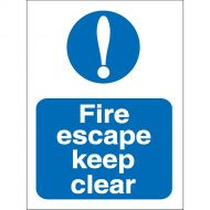 Fire Escape Keep Clear 150x200mm M025SAV (Pack 1)