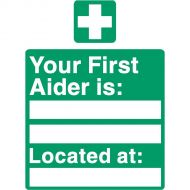 Your First Aider Is Located At SP049SAV (Pack 1)
