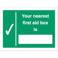 Your Nearest First Aid Box Is SP075SAV (Pack 1)