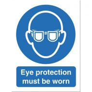Eye Protection Must Be Worn M004SAV (Pack 1)