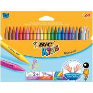 Bic Kids Plastidecor Crayon 8297721 Pk24 (Pack 1)