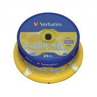 Verbatim DVD PlusRW 4xSpindle Pk25 43489 (Pack 1)