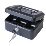 Cash Box 6 inch Black (Pack 1)