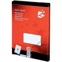 Multipurpose Labels Laser Copier Inkjet 8 per Sheet White [800 Labels]