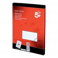 5 Star Office MultiP Lbls 64x34 12400Lbs (Pack 1)