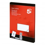 5 Star Office MultiP Lbls 139x99.1 400Lb (Pack 1)