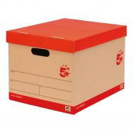 5 Star FSC Storage Box Red & Brown Pk10 (Pack 1)