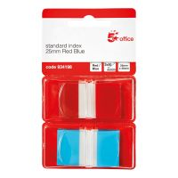 5 Star Index 2x50 Sheets Red Blue (Pack 1)