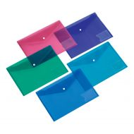 5 Star Document Wallet A5 Assorted Pk5 (Pack 1)