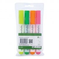 5 Star Eco Highlighter Assorted Pk4 (Pack 1)