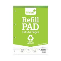 Silvine Everyday Recycled Ruled Refill Pad A4