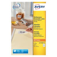 Avery Removable Labels 27Per Sheet White (675 Pack) L4737-25
