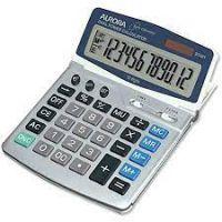 Aurora Desktop Calculator 12 Digit Grey DT401