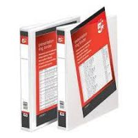 5 Star Presentation 4-Ring Binder File A4 25 mm White