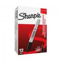 Sharpie Permanent Markers Fine Point Black [Pack 24]