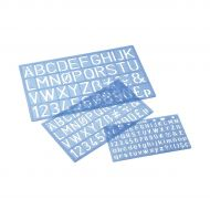 Stencil Templates Lettering 10/20/30mm (Pack 1)