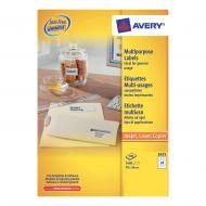 Avery FSC M/purpose Label 70x36 Wht 3475 (Pack 1)