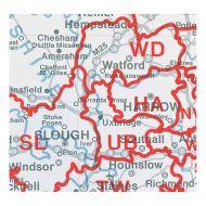 MapMrktng GB & NI Postal Area Map BIPA (Pack 1)