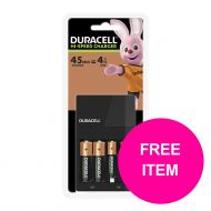BP Duracell 45Min Chrgr&Free AAA Mar1/20 (Pack 1)