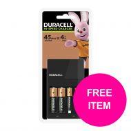 BP Duracell 45Min Chrgr&Free AAA Mar1/20 (Pack 1)