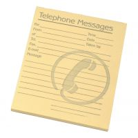 Telephone Message Pad 80 Sheets Yellow (Pack 10)