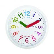 Acctim Lulu Time Tch Wall Clock Wht